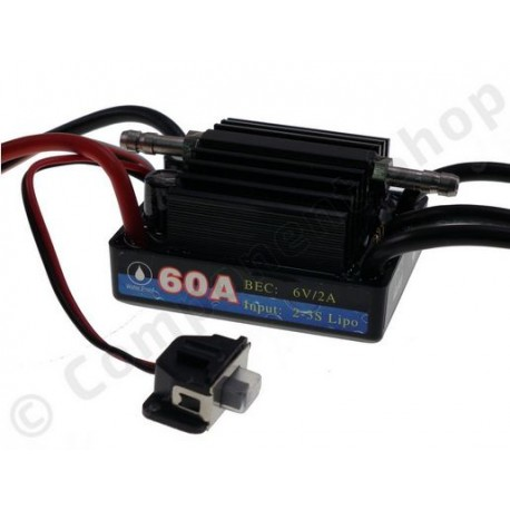 ESC 60A marine wateroroof pour moteur brushless