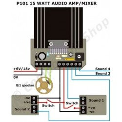 ampli mixer audio 15 watts