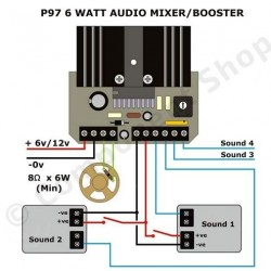 ampli mixer audio 6 watts